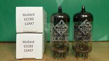 Pair of Mullard (Telefunken label) ECC83 12AX7 I63 1967 Vacuum Tubes