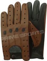 BRAND NEW* TOP QUALITY REAL SOFT LEATHER MEN'S DRIVING GLOVES D507 STAR