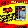 500 SOFT POSTCARD SLEEVES POLYPROPYLENE ACID FREE NO PVC ULTRA PRO 81225-5