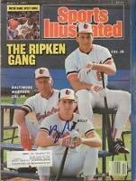 Billy Ripken Signed March 9 1987 Sports Illustrated Full Magazine w/ Cal Jr Sr