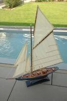Segelyacht Boot Luxus Modell Maritim Boote 95 cm hoch Schiff Meer 4115 Neu