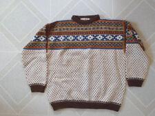 Danish Modern Mens 100% Wool Ski Sweater Strikestua Norway Jaeren Ullvaresalg