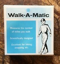 "1960's ""Walk-A-Matic"" Metal Pedometer No. 76333 Made In Japan Brand New!"