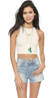New Free People Intimately Seamless High Neck Crop Top Womens Multicolors $20