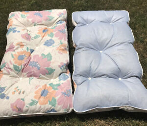 """Vintage Lawn Cushion Pad Outdoor Seat Back Furniture Floral Flowers 41"""" 1 Set"""