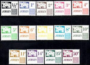 (Ref-14453) Jersey 1971-75 Postage Dues   SG.D7/D20 Mint (MNH)