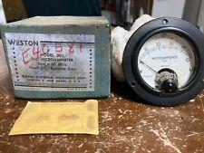Vintage Nos Weston Instruments Microammeter Model 301 Newark Nj Mib Unused