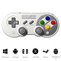 8Bitdo SF30 Pro Gamepad Bluetooth Wireless Game Controller with Joystick- Grey