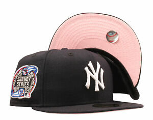 New Era 59Fifty MLB NY Yankees 2000 Subway Series Fitted W/ Pink Bottom