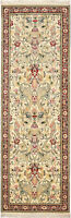 Traditional Handmade Oriental Runner Area Rug Beige/Red Color Rug Size (2.5x8)