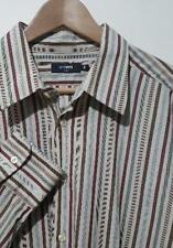 Peter Werth Brown Stripe Long Sleeved Shirt Large Size L