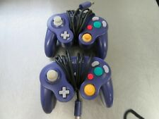 2 Official Nintendo GameCube Indigo Purple OEM Wired Controller DOL-003