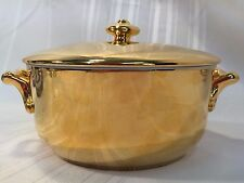 Royal Worcester Gold Lustre Luster 1 1/2 Qt Round Covered Casserole $115 Retail
