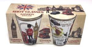 Stunning London Icons Shot Glass (Set of 2) Great Gift Idea