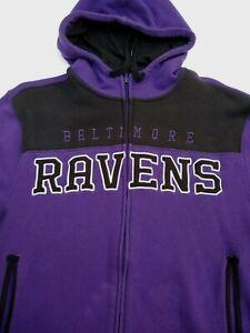 Baltimore Ravens Boy's Purple Zip Up Hooded Sweatshirt Childrens Size S