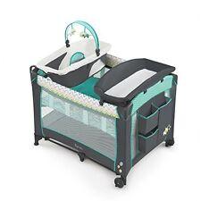 Ingenuity Smart and Ridgedale Simple Folding BABY PLAYARD + Travel BAG, Green