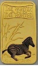 Somalia 2013 Goldplated Color Rectangular 25 shilling-Fauna-Zebra