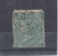 GB QV 1/- Green SG117 Used J8125