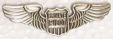 Large Hat Pin Private Pilot Wings Jacket Epaulet NEW