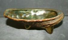 """Vintage Oyster Shell Dish Ashtray Coin Ring Bowl Mother of Pearl 7.5"""""""