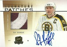 2009-10 UD THE CUP SIGNATURE PATCHES RAY BOURQUE 19/25 SP