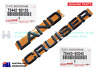 GENUINE Toyota LandCruiser 100 Series Tailgate Land Cruiser Badge Emblem Set