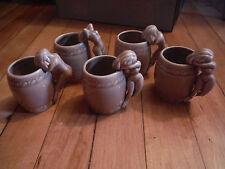 """Vintage Lot Set of 5 Small Nude Mugs - 2 1/2"""" Tall"""