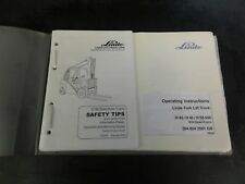 Linde H40 H45 H50 - 500 Lift Truck Operating Instructions Manual