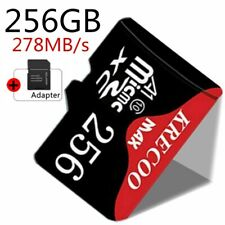 New Ultrathin Micro Memory Card 256GB TF Flash 278MB/s Fast Camera&Car&Adapter
