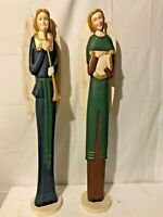 Christmas angels 36 inches tall pier one wooden holding musical instruments
