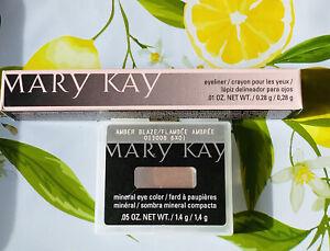 Mary Kay Deep Brown Eyeliner & Amber Blaze Mineral Eye Shadow