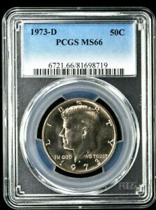 1973-D Kennedy Half Dollar 50C PCGS MS66 (8719BD) 99c NO RESERVE  Witter Coin