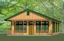28x40 House -- 2 Bedroom 2 Bath -- PDF Floor Plan -- 1,120 sq ft -- Model 1B