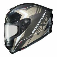 Scorpion EXO-R420 Full Face Motorcycle Street Helmet Titanium Medium 75-1161M