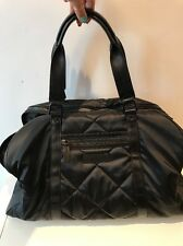 Burberry Black Quilted Fabric Leather Handles Unisex Sports Travel Shoulder Bag