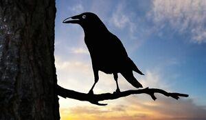 Crow Raven bird metal tree art for the garden Steel Rusty Silver Copper