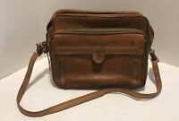 "~VTG 15"" Long Leather HARTMANN Messenger Briefcase Laptop Bag with Strap Brown!~"
