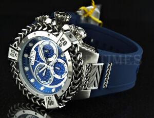 Invicta 56mm Reserve Bolt HERCULES Swiss Movt Chrono Gunmetal Bezel Blue Watch