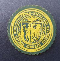 Siegelmarke Vignette Sigillum Civitatis Bithum Totius Communitatis (8035-3)