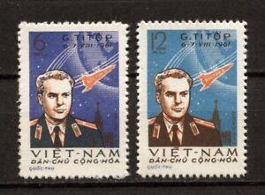 1961 Vietnam Stamps Gherman Titov's Space Fight Scott # 174-175 MNH