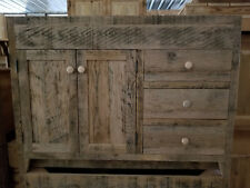 "VANITY, BATHROOM VANITY, OAK VANITY, 48"" VANITY, VANITY WITH DRAWERS, RECLAIMED"