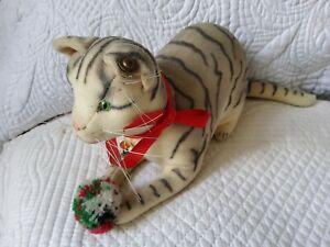 Chat gris tigré, réplique du chat créé en 1901 par R. Steiff , numéroté 80 /2500