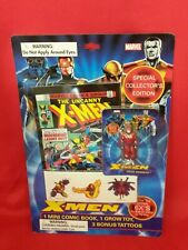 50X LOT Marvel The Uncanny X-Men Mini Comic Book Magneto Grow Toy 3 Temp Tattoo