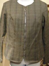 Frank Lyman Women's Zip-Up Jacket Sz 8 Padded Shoulders