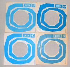Job Lot  X 4 DECCA  7'' record sleeves. Company Original Vintage. (ref525)
