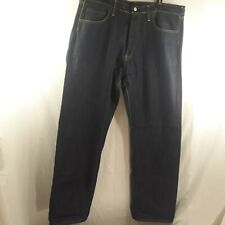 Evisu Men's W/38 L/34 Dark Blue Jeans