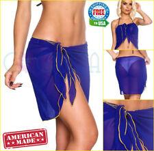Coqueta Royal Bikini Ladies Sexy Short Wrap Chiffon Cover Pareo Bathing Suit