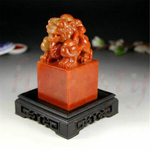 Chinese Traditional Beast Carving Seal Sculpture Name DIY Stone Jade Seal Gift