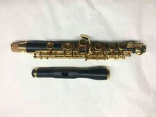 Professional musicians type ebony wood piccolo c key gold plated +case