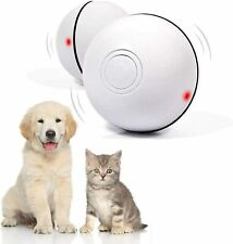 Smart Interactive Cat Toy USB Rechargeable Led Light 360 Degree Self Rotating Ba